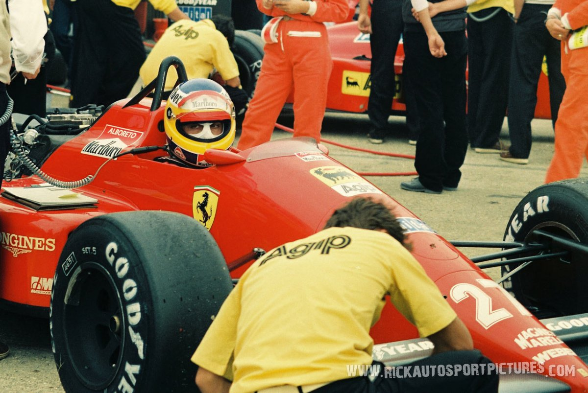 Michele Alboreto Brands Hatch 1984