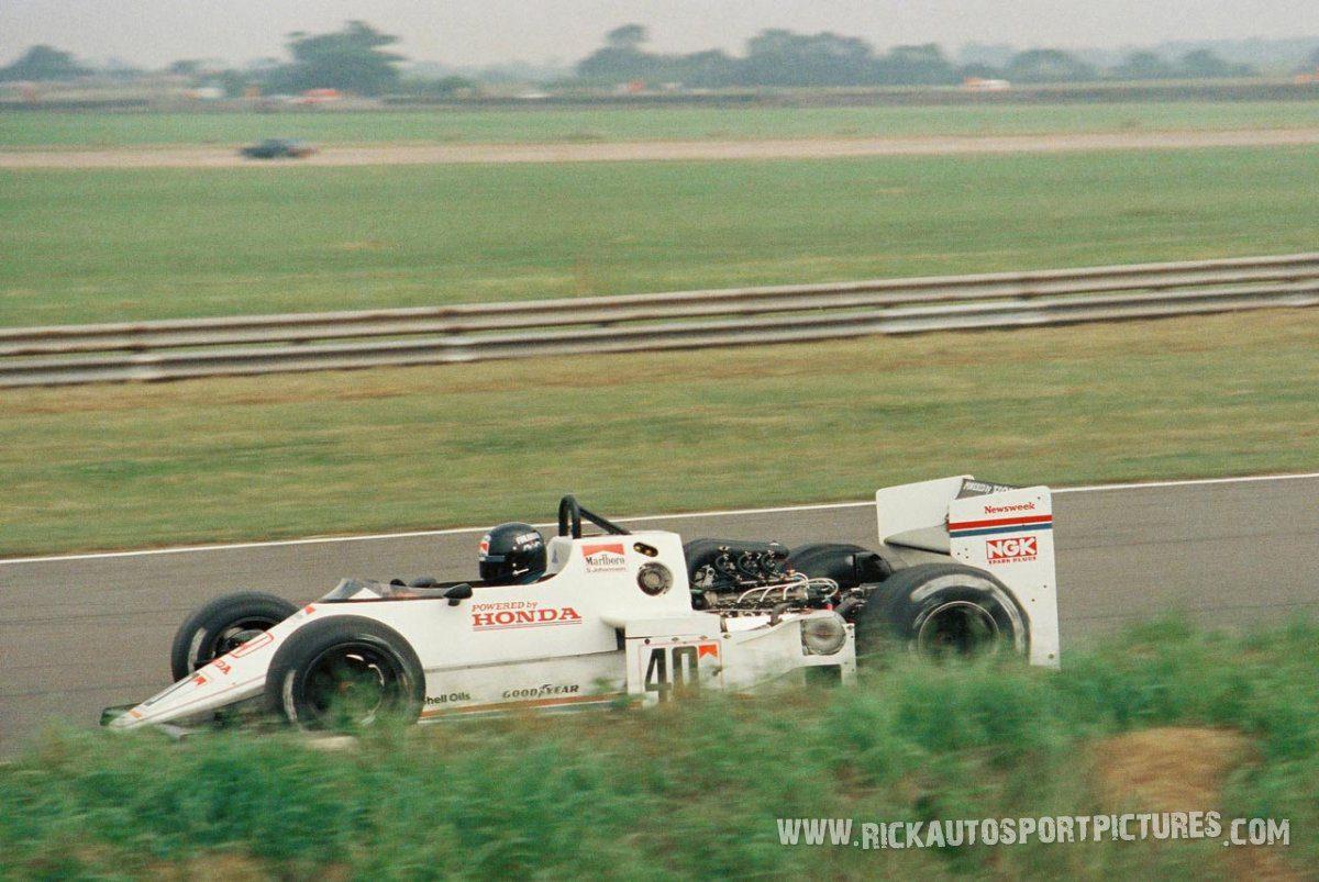 Stefan Johansson Silverstone 1983
