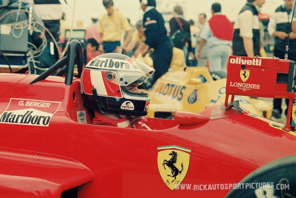 Gerhard Berger Silverstone 1987