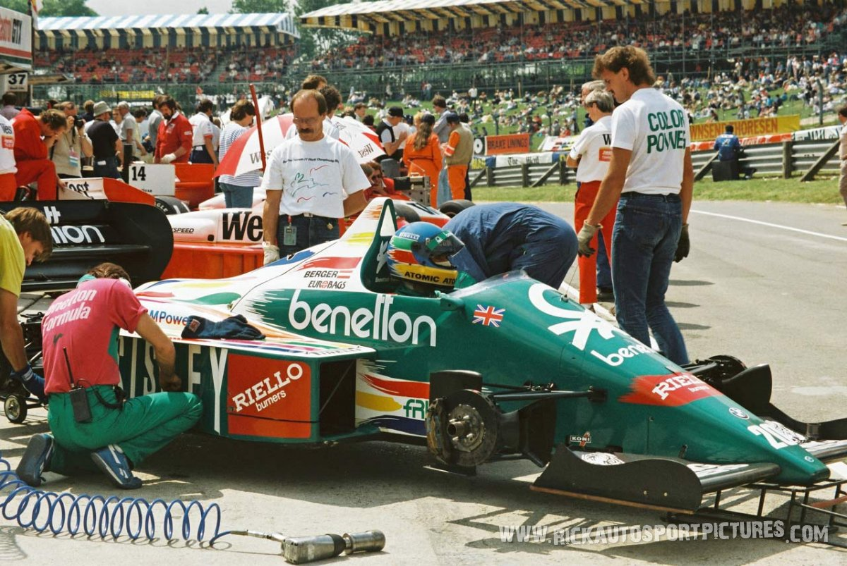 Gerhard Berger Brands Hatch 1986