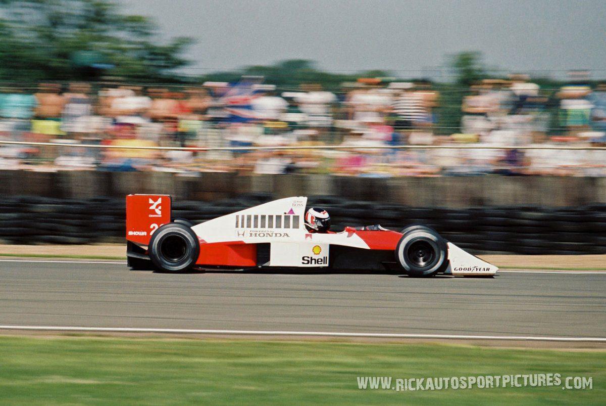 Gerhard Berger Silverstone 1990