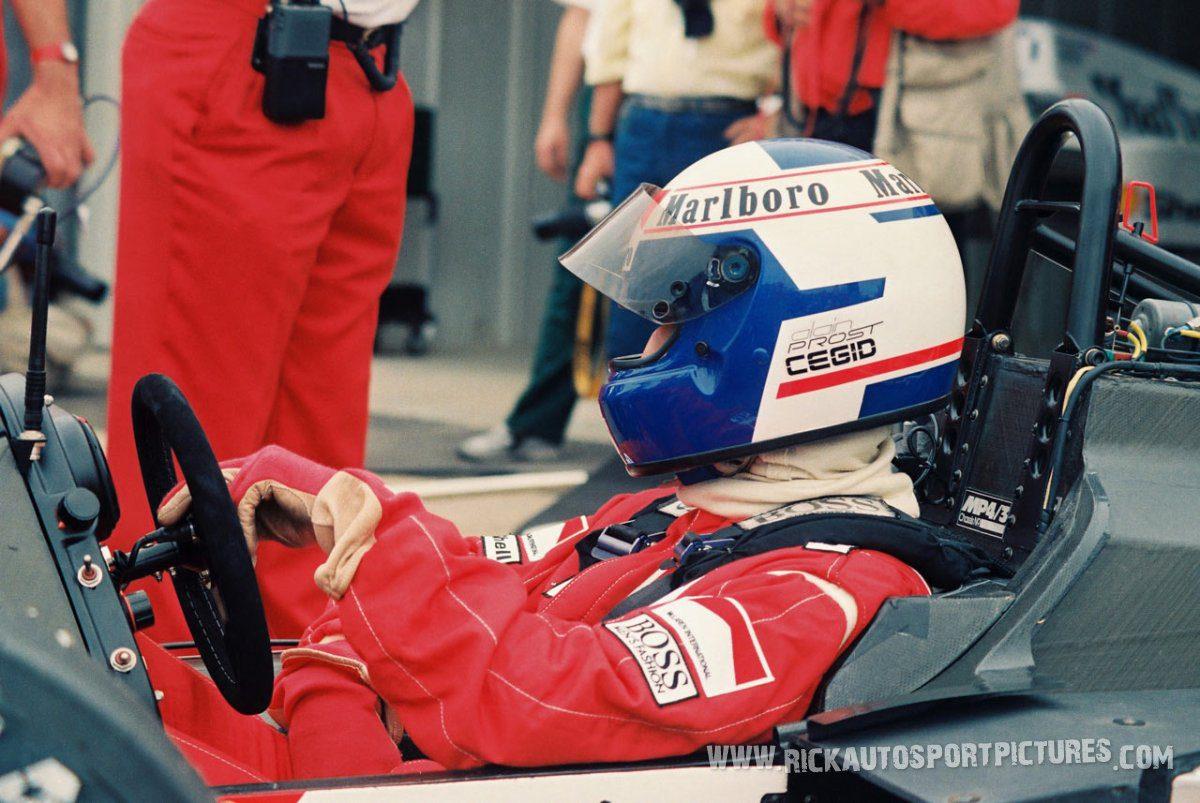 Alain Prost Silverstone 1987