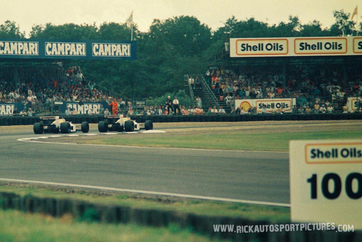 Nigel Mansell Nelson Piquet Silverstone 1987