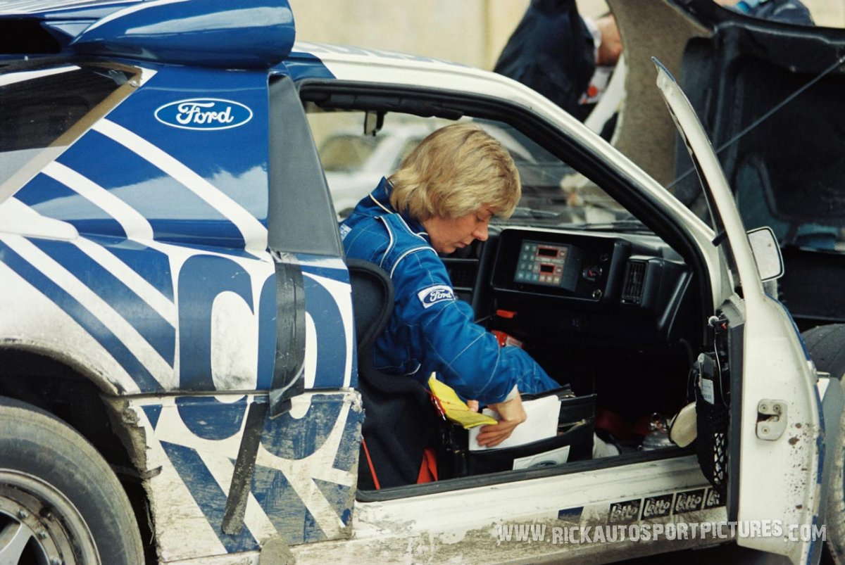 Anja Lieuwma Bianchi Rally 1986
