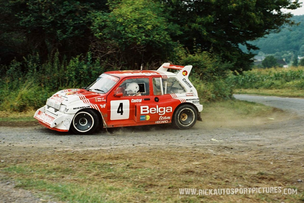 Marc Duez Bianchi Rally 1986