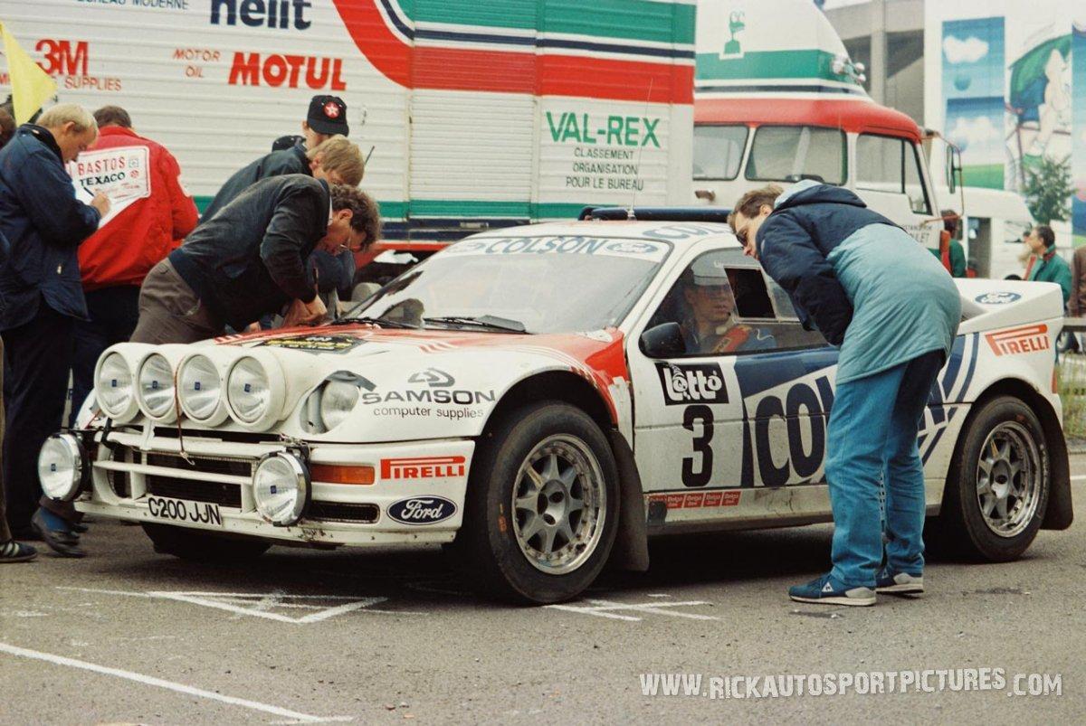 Stig Andervang Bianchi Rally 1986
