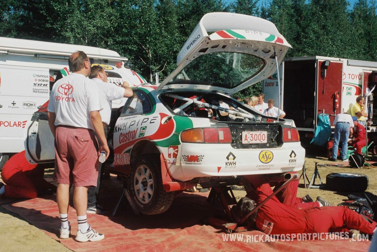Team Toyota Castrol Finland 1000 Lakes 1996