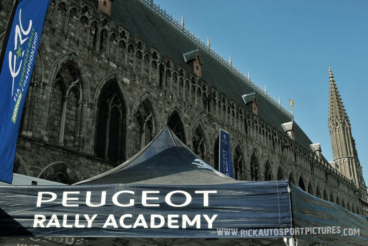 Peugeot rally Academy ypres ieper rally 2014