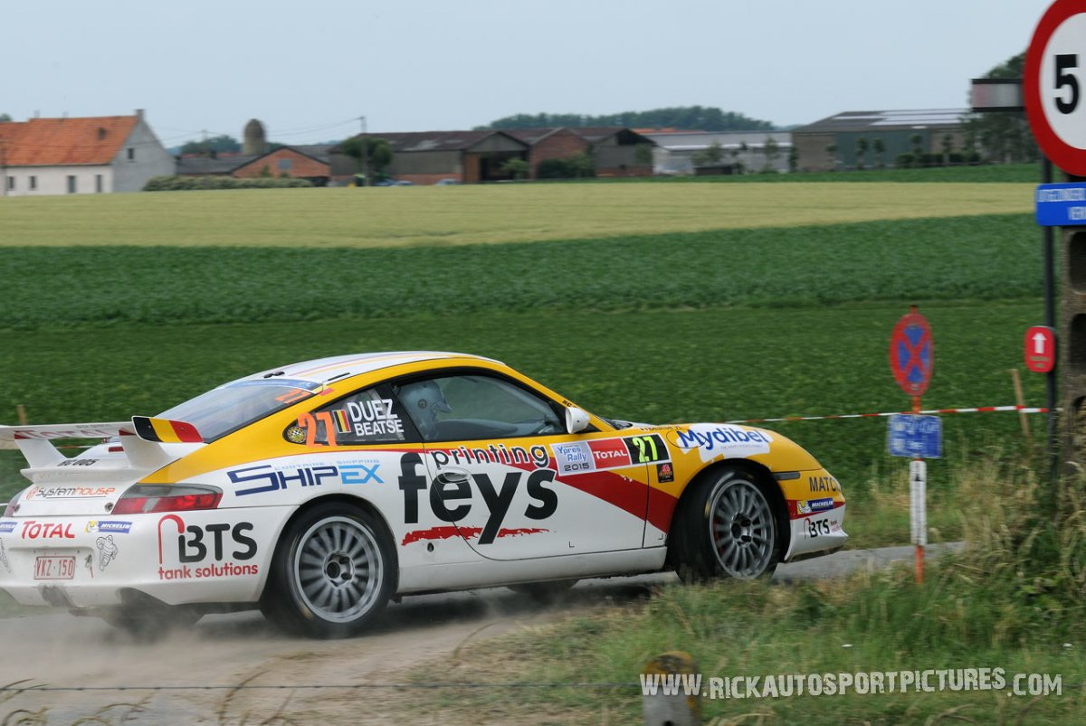 Marc Duez ypres ieper rally 2015