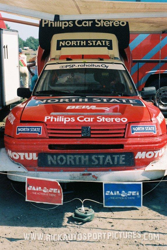 Matti Alamaki Rallycross Peugeot 1989