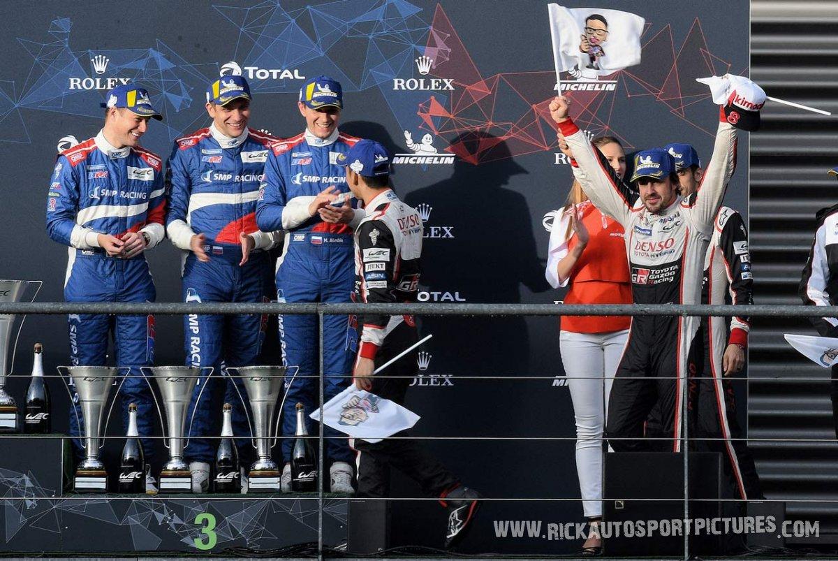 LMP1 podium Alonso -WEC-Spa-2019
