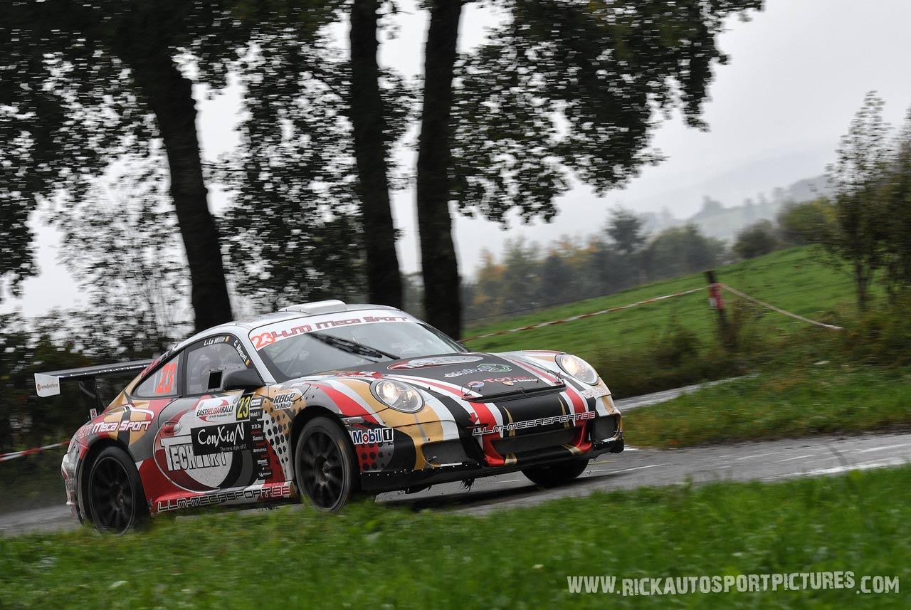 Laurent le Millin LLM Mecasport Porsche East Belgian Rally 2017