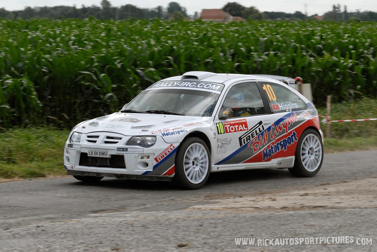 Mark Higgins Ypres Rally 2008