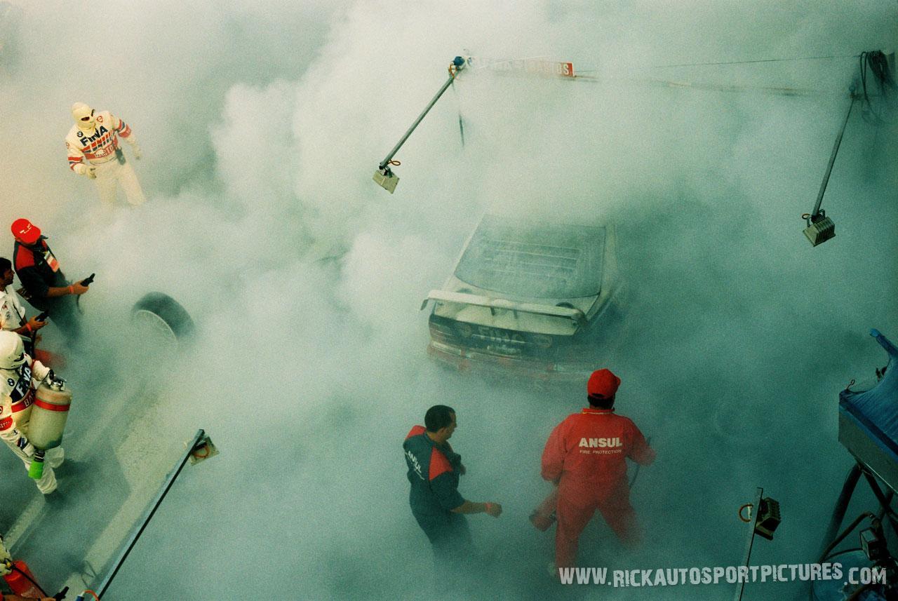 Schnitzer BMW pit fire spa 24 hours 1995