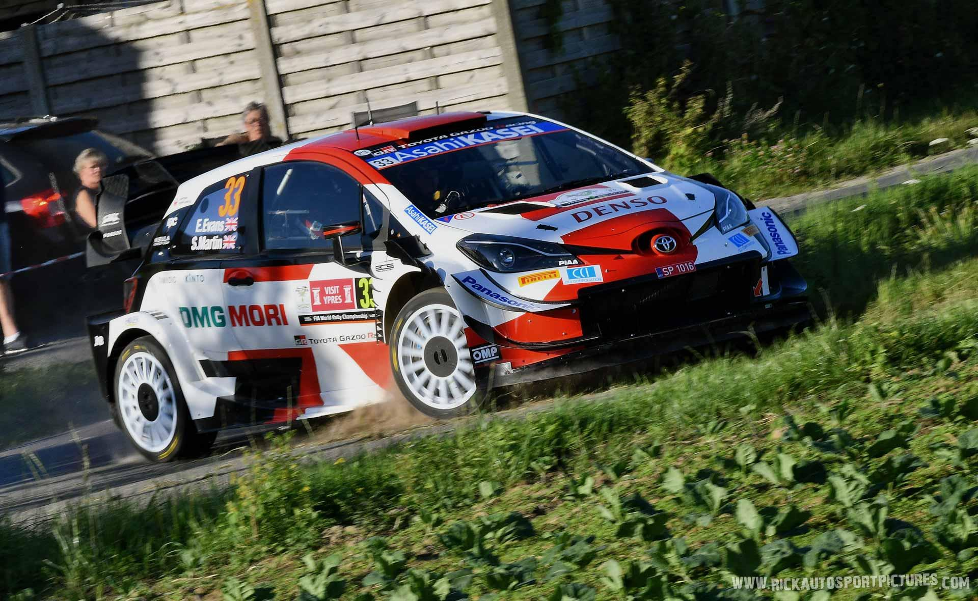 Elfyn Evans Ypres Ieper rally 2021