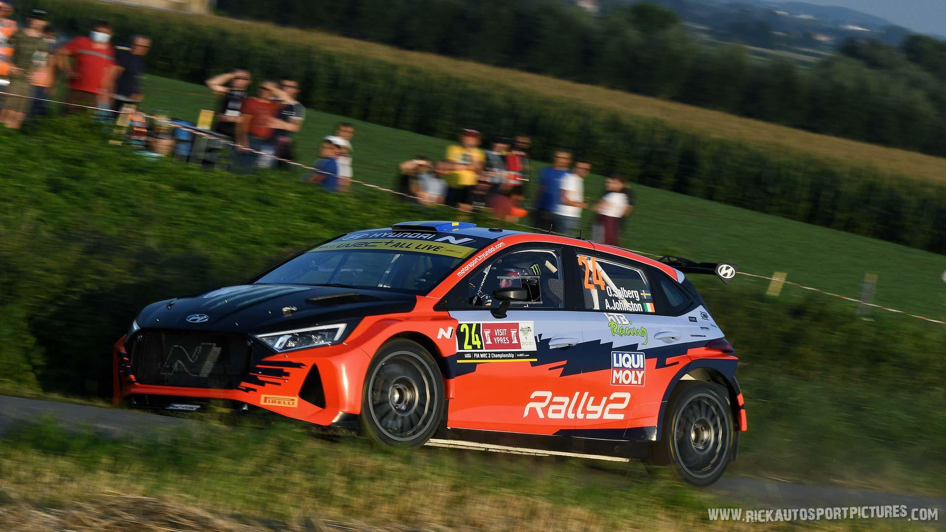 Oliver Solberg Ypres Ieper Rally 2021