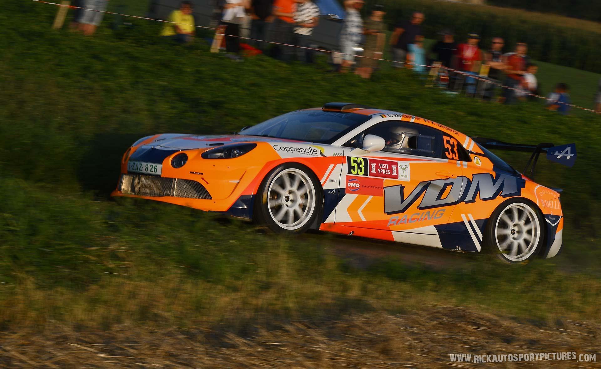 Chris vandamme alpine A110 rally ypres 2021